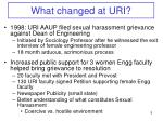 what changed at uri