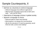 sample counterpoints ii