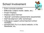 school involvement