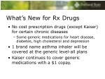 what s new for rx drugs