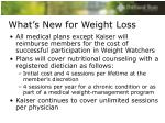 what s new for weight loss