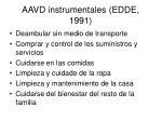 aavd instrumentales edde 1991