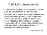 definici n dependencia