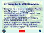2010 amended the weee regulations