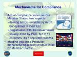 mechanisms for compliance