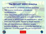 the recast weee directive