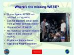 where s the missing weee