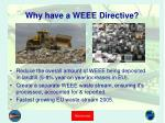 why have a weee directive