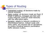types of routing