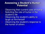 assessing a student s humor potential