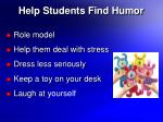 help students find humor