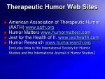 therapeutic humor web sites