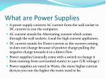 what are power supplies