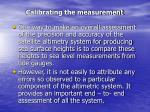 calibrating the measurement