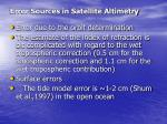 error sources in satellite altimetry