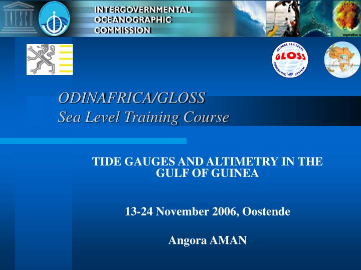 odinafrica gloss sea level training course n.