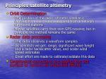 principles satellite altimetry