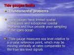 tide gauges limits