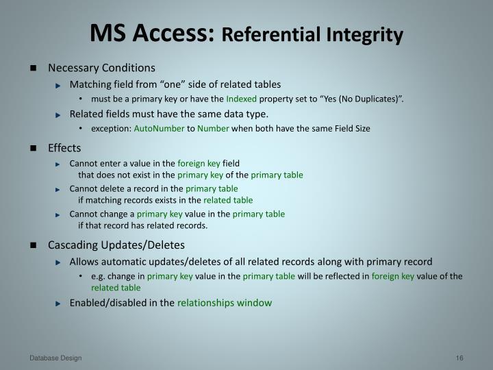 MS Access: