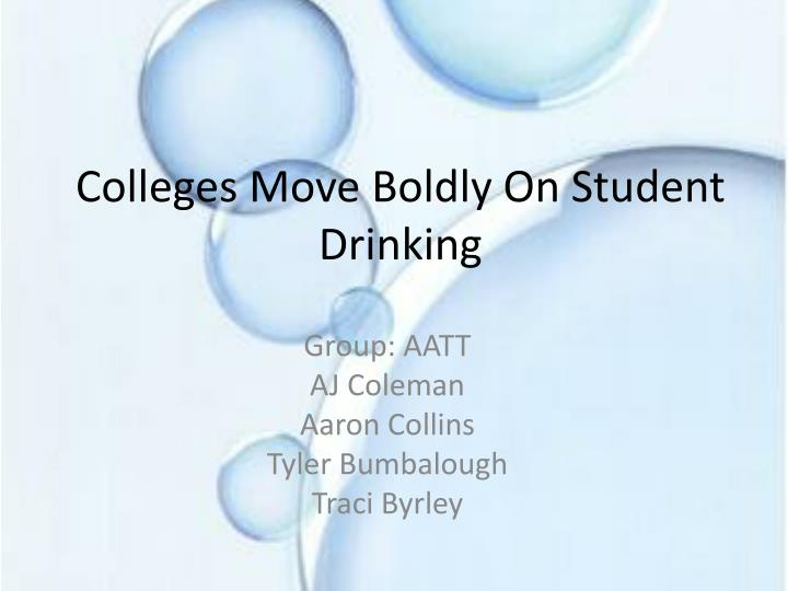 colleges move boldly on student drinking n.