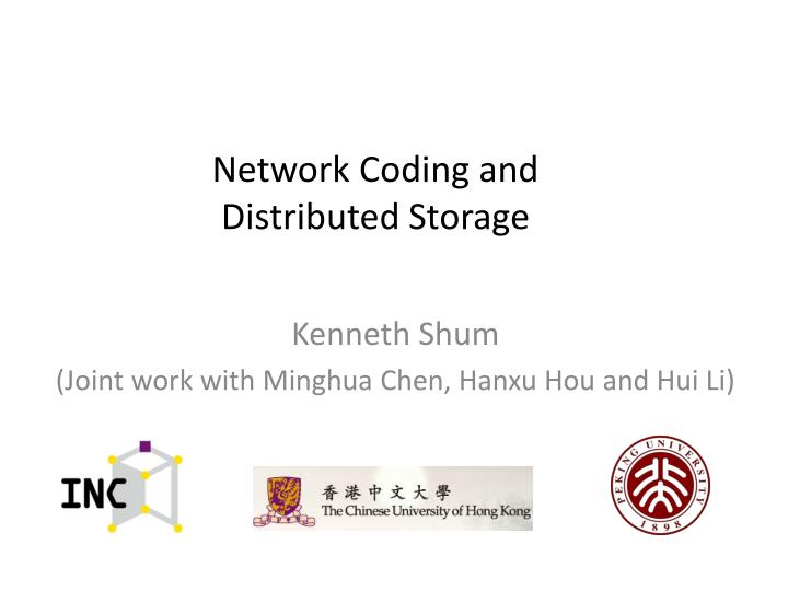 network coding and distributed storage n.