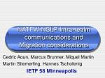 natfw nslp intra realm communications and migration considerations
