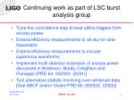 continuing work as part of lsc burst analysis group