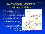 feedback and pre synaptic inhibition found in many forms