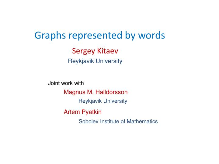 graphs represented by words n.