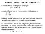 grammars vs regular expressions