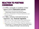 reaction to postwar consensus