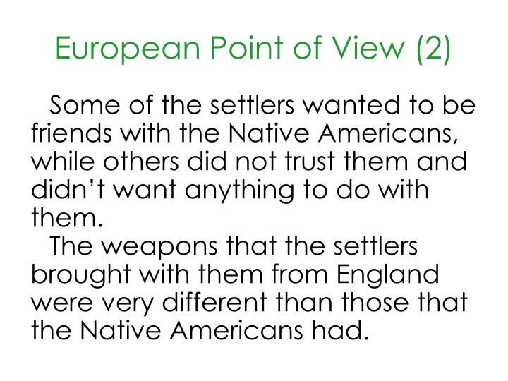 European point of view 2