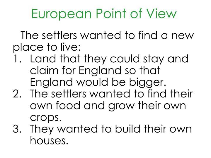 European point of view