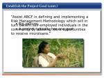 establish the project goal cont