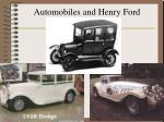 automobiles and henry ford