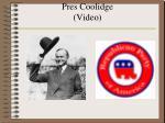 pres coolidge video