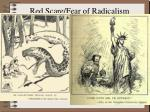 red scare fear of radicalism