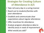 strategies for creating culture of attendance in a s