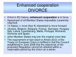 enhanced cooperation divorce