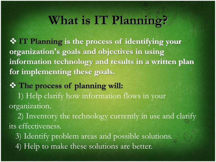 What is IT Planning?