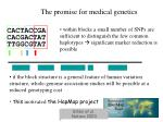 the promise for medical genetics
