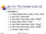 lab 3 the combo lock 3
