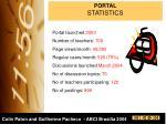 portal statistics
