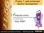 project 1 web enhanced teacher development