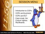 session menu