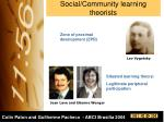social community learning theorists