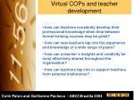 virtual cops and teacher development