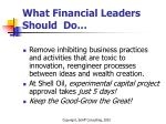 what financial leaders should do1