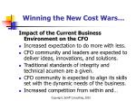 winning the new cost wars