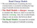 bond charge models